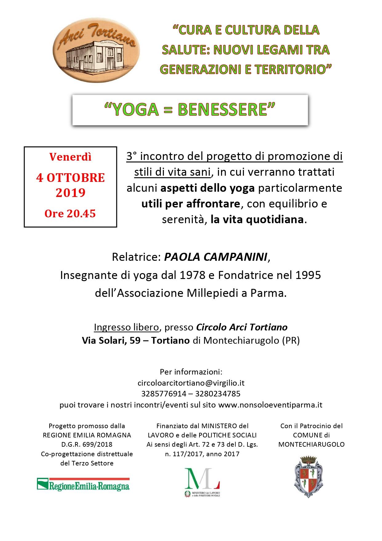 Yoga Benessere Comune Di Montechiarugolo